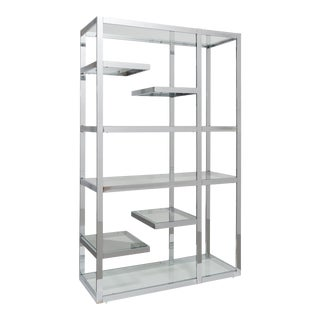 A Single Chromium Steel Framed Etagere USA 1970s
