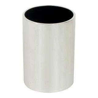 Dado Industrial Design S.P.A Italian Chromed Heavy Steel Cylinder Vase