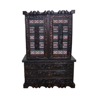Witco Tiki Elvis Jungle Room Redwood Armoire