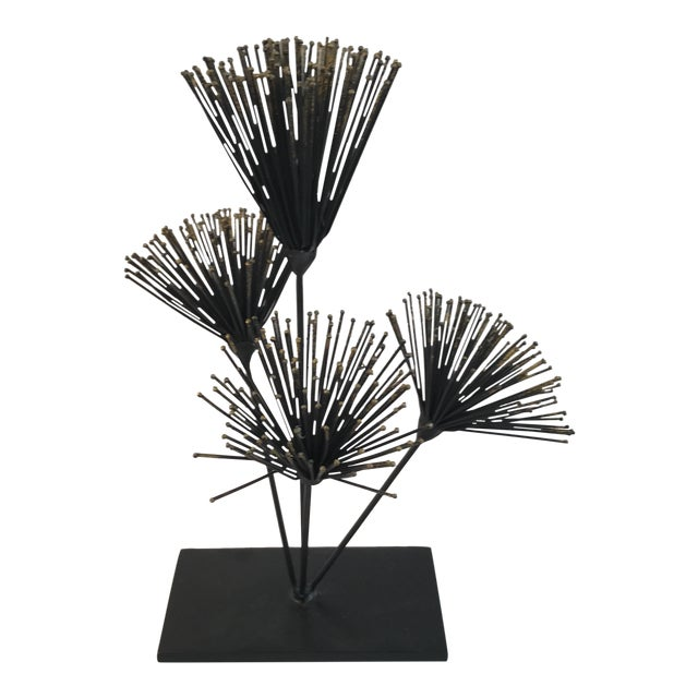 Metal Floral Sculpture - Image 1 of 6