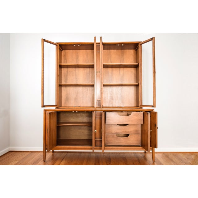Image of Mid-Century Drexel Meridian China Cabinet Hutch