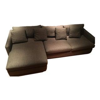 Crate & Barrel Gray Sectional Sofa