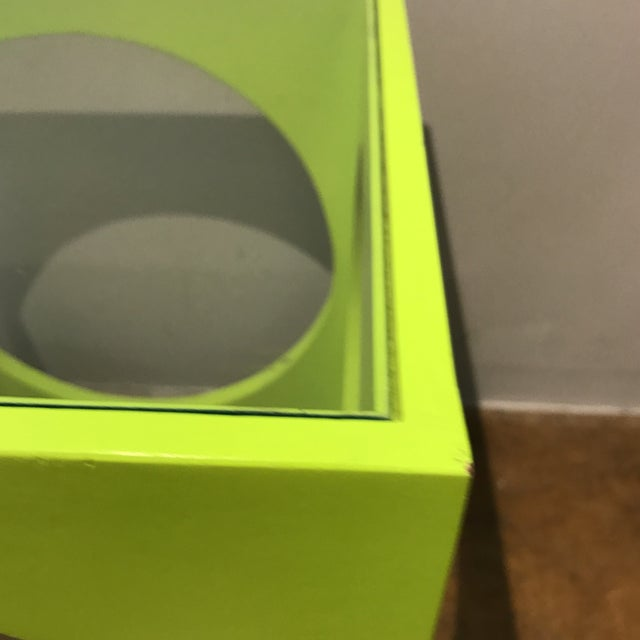 Adrian Pearsall Lime Green Cube Table - Image 6 of 6