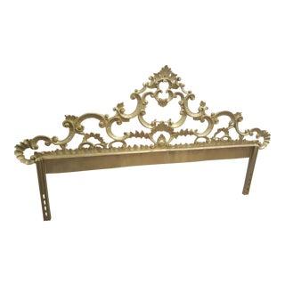 Vintage Baroque Cast Iron King Headboard