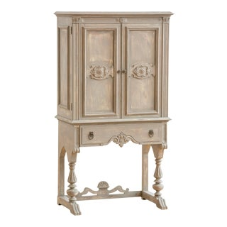 1920s Distressed Painted Armoire
