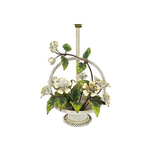 Image of Italian Hand-Painted Tole Lamp