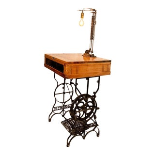 Reinvented Vintage Sewing Machine Desk