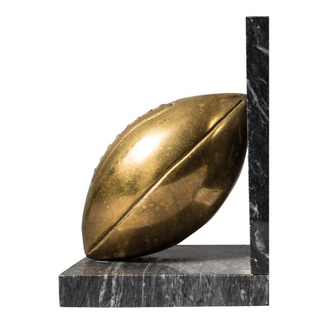 Brass Football Bookends - Pair - Image 1 of 3