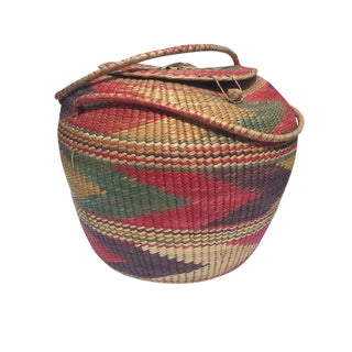 Vintage Hand Woven Storage Basket