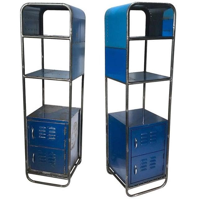 Blue Reclaimed Steel Shelf - Image 2 of 2
