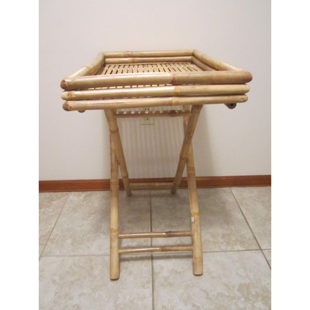 Bamboo & Rattan Table Tray - Image 5 of 11