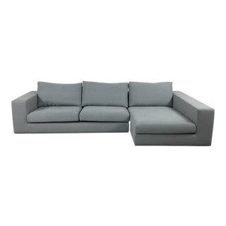 Modern Gray Right Chaise Sectional Sofa