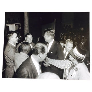 Original Charles Harris JFK Supporters Photograph