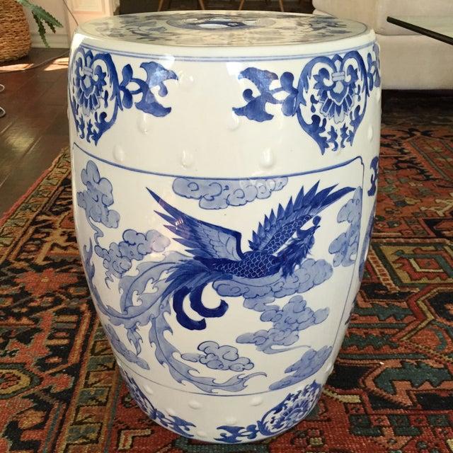 Large Chinoiserie Ceramic Garden Stool Chairish