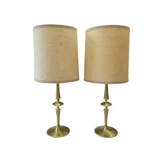 Mid-Century Modern Brass Lamps - A Pair
