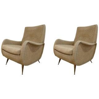 Italian MCM Club Chairs - A Pair
