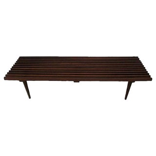 Danish Modern Slatted Bench