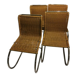 Mies Van Der Rohe Caned Mid-Century Chairs - Set of 4