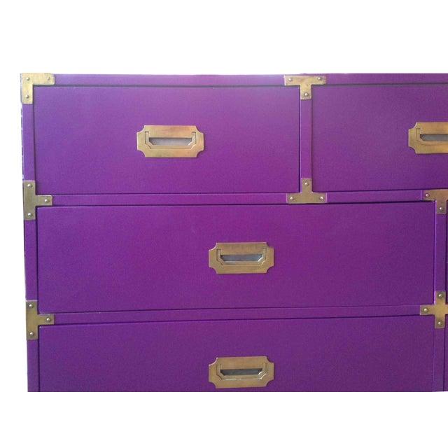 Vintage Campaign Purple Chest - Image 4 of 10