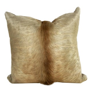 Champagne Cowhide Pillow