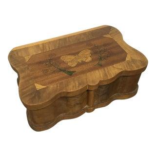 Burl Wood Jewelry Box, 1940s