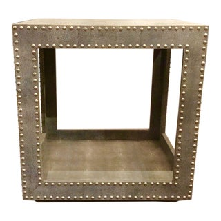 Regina Andrews Feaux Python Studded Accent Cube Table