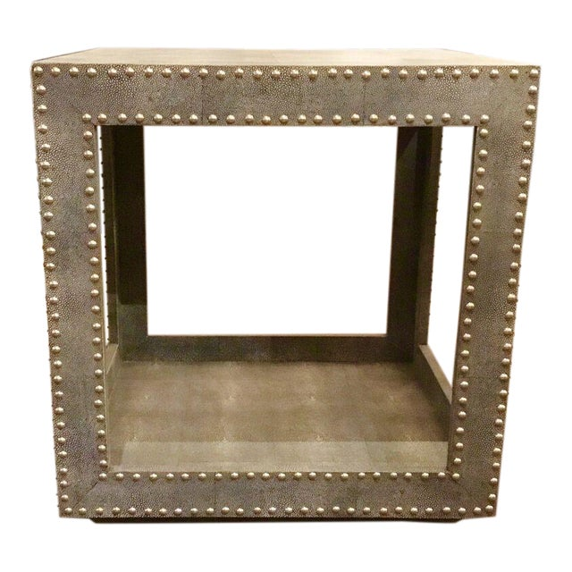Regina Andrews Feaux Python Studded Accent Cube Table - Image 1 of 9