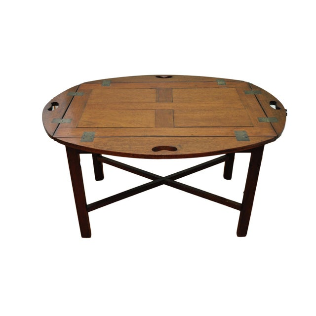 Butler 39 s tray coffee table chairish Butler coffee tables