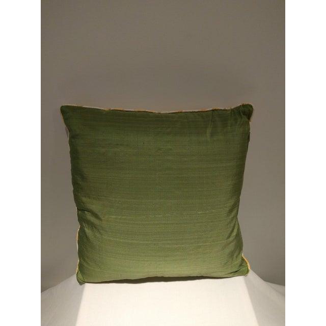 Custom Italian Gold Damask Silk Pillows - Set of 3 - Image 11 of 11