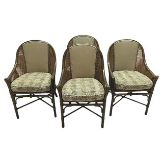 Vintage McGuire Bamboo Dining Chairs - Set of 4