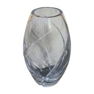 Tiffany Crystal Swirl-Cut Elliptical Vase