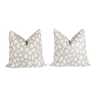 Leopard Leokat Pattern Pillows - A Pair