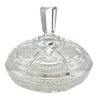 Antique Cut Crystal Lidded Bowl