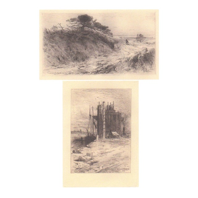Pair of R. Swain Gifford Ecthings c.1879 - Image 1 of 3