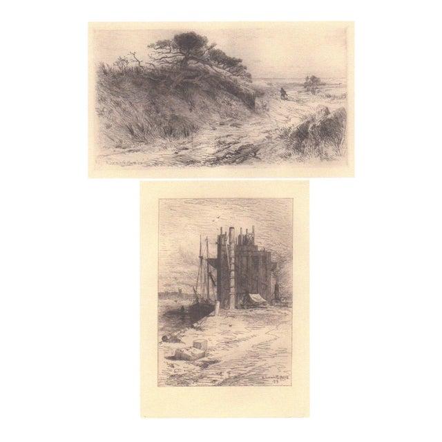 Image of Pair of R. Swain Gifford Ecthings c.1879