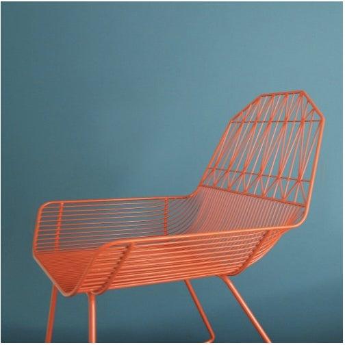 Orange Organic Modern Farmhouse Lounge Chair - Image 2 of 3