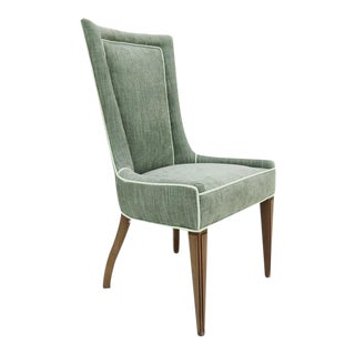 Mid-Century Sage Green Upholstered Accent Chair
