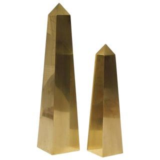Large Vintage Brass Obelisks By Frederick Cooper