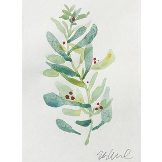"""Sage and Lime"" Original Watercolor Painting"