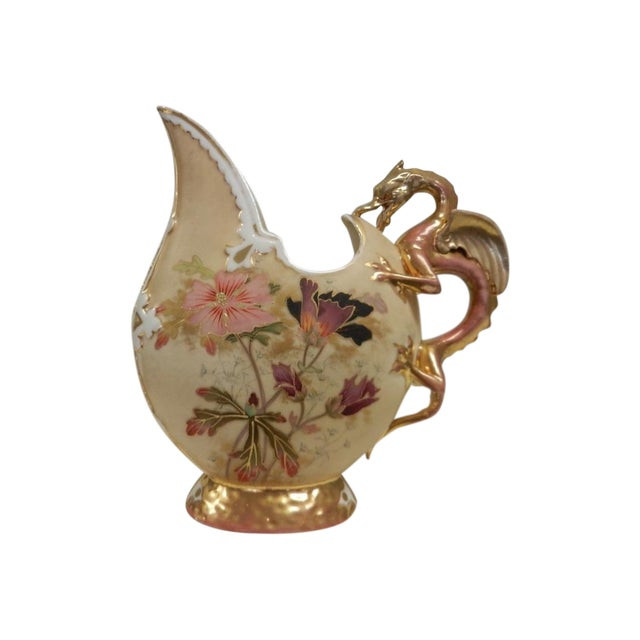 Image of Vintage Ewer With Griffin Handle