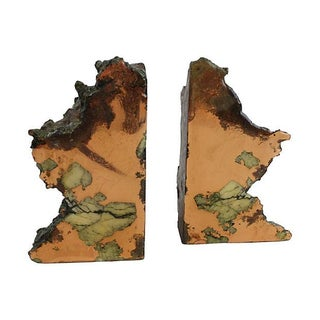 Raw Copper Specimen Bookends - A Pair