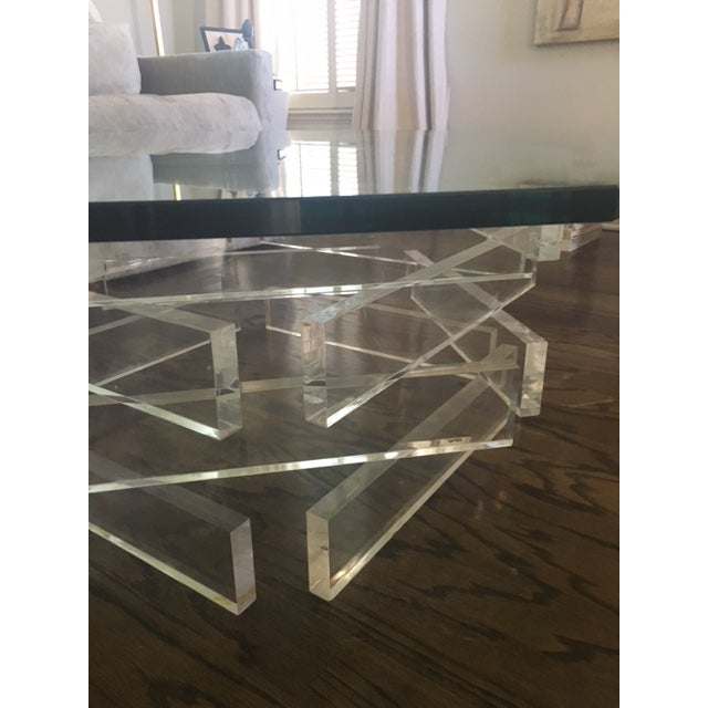 Image of Lucite 'Brick' Coffee Table