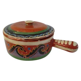 Mexican Redware Pottery Crock