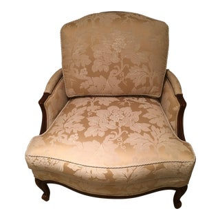 Ethan Allen Bergere Chair With Ottoman