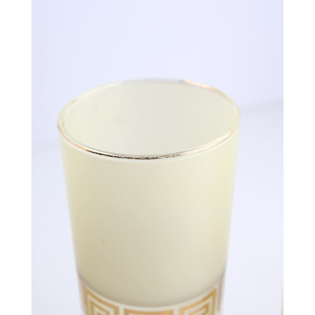 Image of Frosted Federal Glass Tumblers With Greek Design