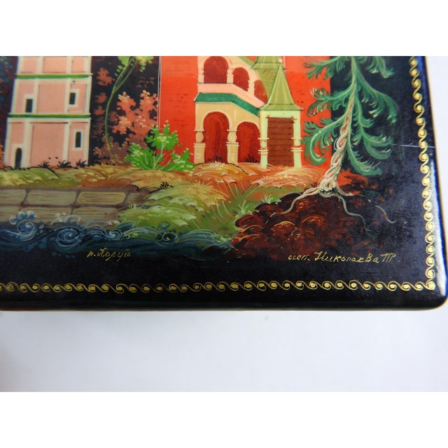 Hand Painted Russian Lacquer Box - Image 5 of 7