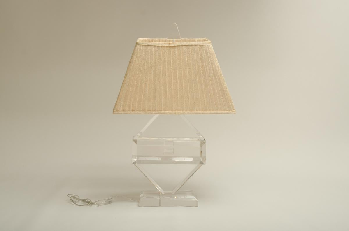 Incredible Fabulous Vintage Lucite Table Lamp by Michael Oguns