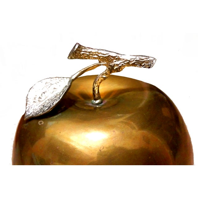 Image of Hollywood Regency Brass Footed Pear Bowl