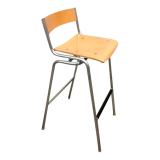 Maple & Steel Thonet Stools - Set of 3