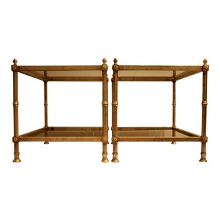 Maison Jansen-Style Gilt Tables - A Pair